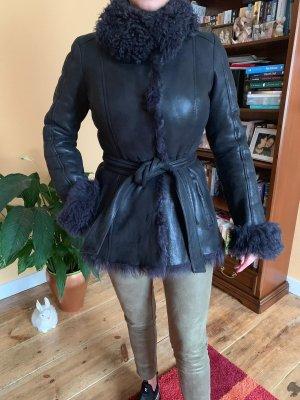Boss Orange Fur Jacket black