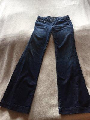 7 For All Mankind Jeans bootcut bleu foncé