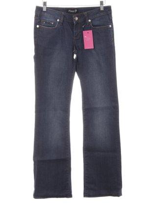 Boot Cut Jeans dunkelblau Glitzersteinverzierung