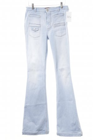 Boot Cut Jeans himmelblau-wollweiß meliert Casual-Look