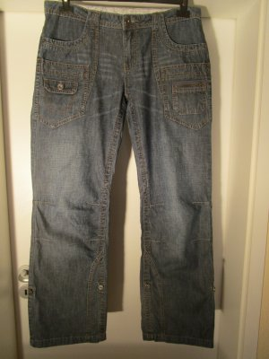 Street One Boot Cut Jeans blue cotton