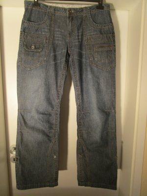 Street One Boot Cut spijkerbroek blauw Katoen