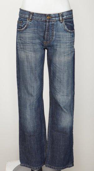 Boot-Cut Jeans mit tief sitzenden Bündchen