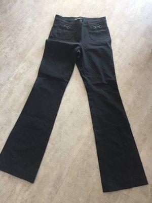 Cambio Broek met wijd uitlopende pijpen zwart