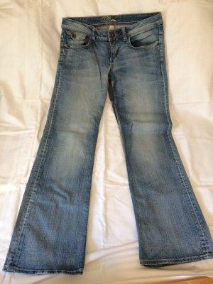 QS by s.Oliver Boot Cut spijkerbroek azuur Katoen