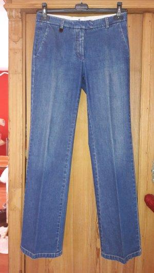 René Lezard Boot Cut Jeans steel blue cotton