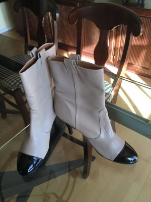 Boots black-grey brown leather