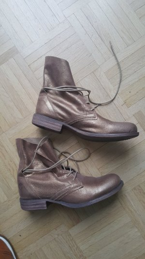 Bootie/Stiefelette in Gold