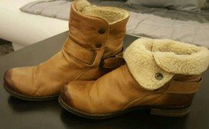 Booties, Ankle Boots, Stiefeletten, Leder, gefüttert