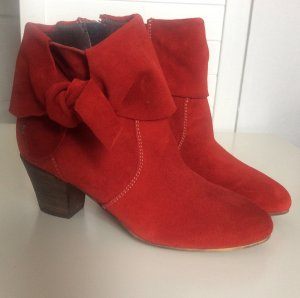 Botas de tobillo rojo ladrillo Gamuza