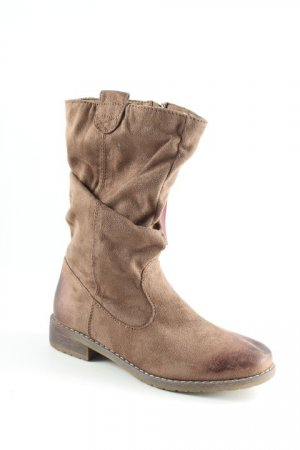 Booties camel Biker-Look