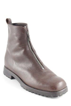 Booties dark brown simple style