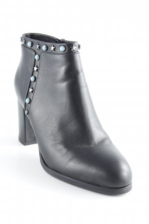 Booties schwarz Biker-Look