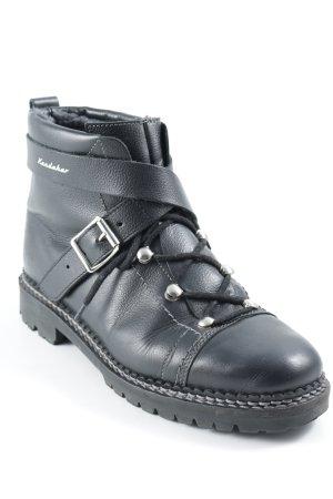 Booties black street-fashion look
