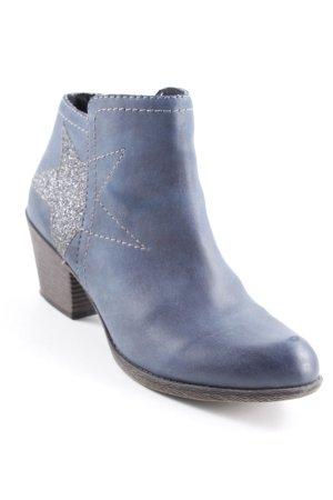 Booties silberfarben-dunkelblau Casual-Look
