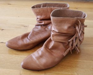 zara boots leder booties 39 stiefeletten vintage. Black Bedroom Furniture Sets. Home Design Ideas