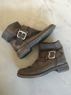 Vera Gomma Boots silver-colored-black brown