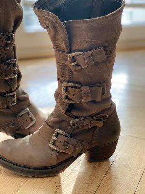 Air Step Chukka boot gris anthracite-gris cuir