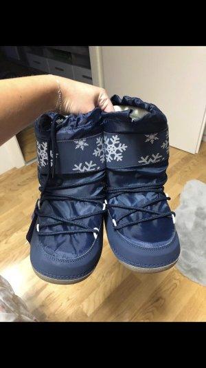 Blue Motion Bottes de neige blanc-bleu