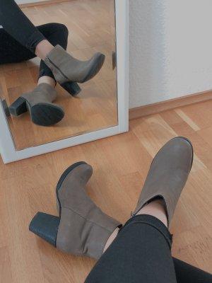 Bertie Zipper Booties multicolored leather