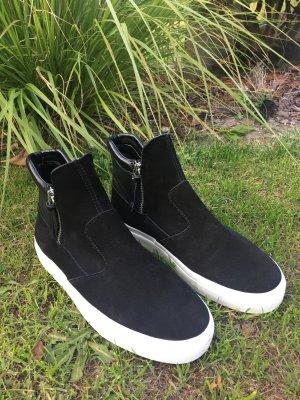 Boots Booties Stiefelette schwarz Leder Zara woman Gr. 39