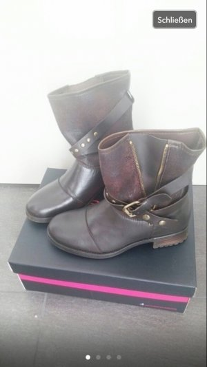 Boots Buffalo braun Winter Stiefel Stiefeletten Leder 38