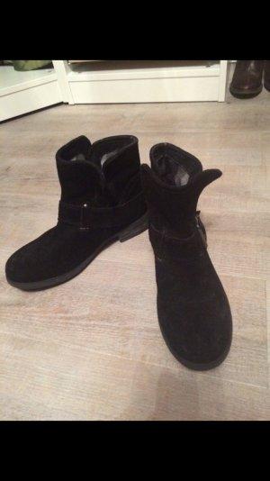 Boots, Bugatti, Schuhe, Stiefelette, 38, schwarz, Leder, echtleder