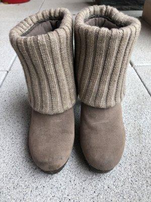Tronchetto marrone-grigio-marrone chiaro