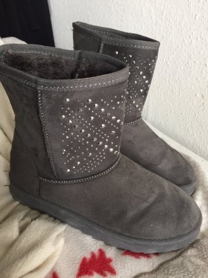 Snow Boots grey-silver-colored