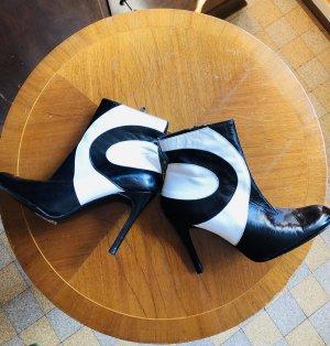 Shellys Short Boots black-white