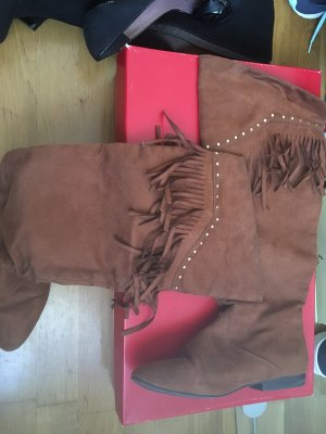 H&M Boots western cognac
