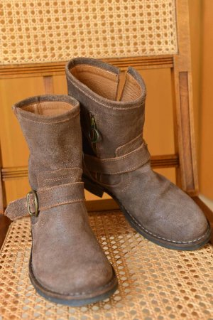 Boots FIORENTINI & BAKER Eli 36 Wildleder Braun sgt.Zstd. Bikerboots OVP