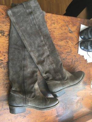 Boots Gr. 37,5 Wildleder, Flaschengrün , Gaucho -Style