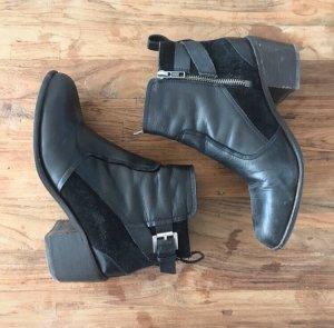 H&M Chelsea Boot noir-argenté