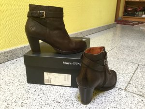 Marc O'Polo Ankle Boots black brown-dark brown leather