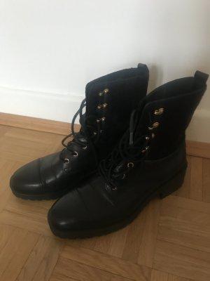Boots im Combat-Style, schwarz, 38