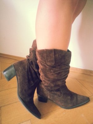 Western Boots dark brown suede
