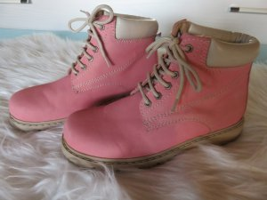 Ankle Boots pink-neon pink imitation leather