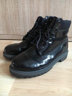 Boots in schwarz glänzend