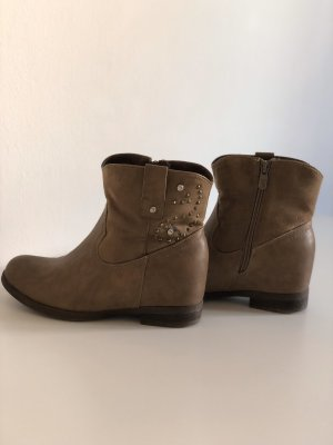 Ankle Boots beige-camel