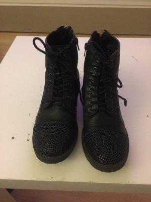 Boots Leder schwarz  Gr.38 Catwalk