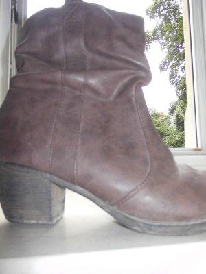Boots - Lederoptik - Größe 38