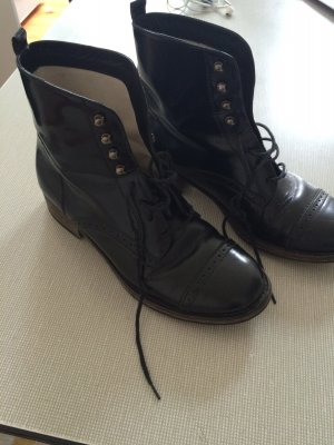 Boots, Maje, Budapester, Schwarz,