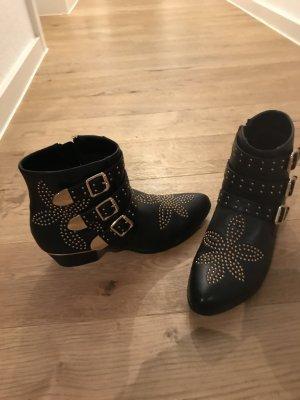 Boots mit Gold / Schnallen - Deichmann