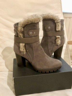 Bottes de neige gris brun