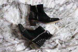 Boots mit Nieten Studs Wildleder Stiefeletten