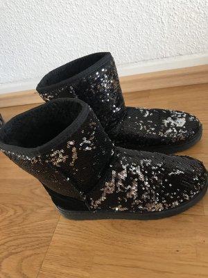 Boots mit Pailleten