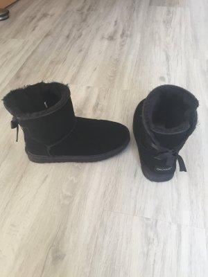 Botas de nieve negro piel artificial