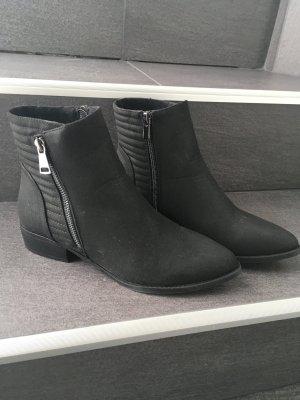 Boots neu Stiefeletten 38 39 Hohe Schuhe Stiefel Wildleder Fashion Style