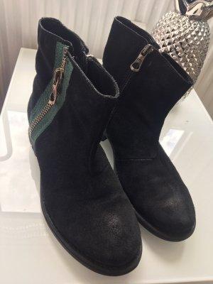 Replay Korte laarzen zwart-donkergroen